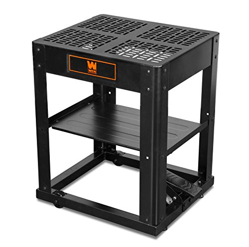 WEN 6588T Multi-Purpose Planer Stand with Storage Shelf and Rolling Base