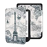 Deylaying PU Leather Case Cover for Kobo Nia e-Reader 2020 6 Inch, Protection Non-Slip Shell with Auto Sleep/Wake Sleeve