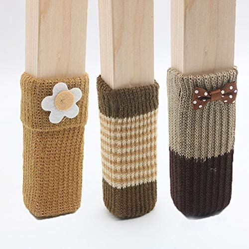 MNZDDDP Cute Knitted New products, world's highest quality popular! 16 We OFFer at cheap prices Piece Chair Floor Legs Socks Table