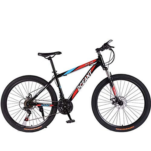 Qinmo Suspensión Bicicletas de montaña Bicicleta Plegable 21 de Velocidad Doble Freno Tenedor Antideslizante Off-Road Variable Speed ​​Tenedor de Bicicletas de Carreras for Hombres y Mujeres