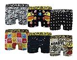 No Publik – Boxer Featuring Pacman Hombre Confort e Fantasía de algodón – Surtido modelos de fotos según disponibilidades – Multicolor Pack de 6 Boxers Surprise en Microfibre small