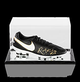 Ronaldinho Autographed Signed Black Nike Tiempo Boot In Acrylic Case -  Certified Authentic Soccer Signature a2777c36e24