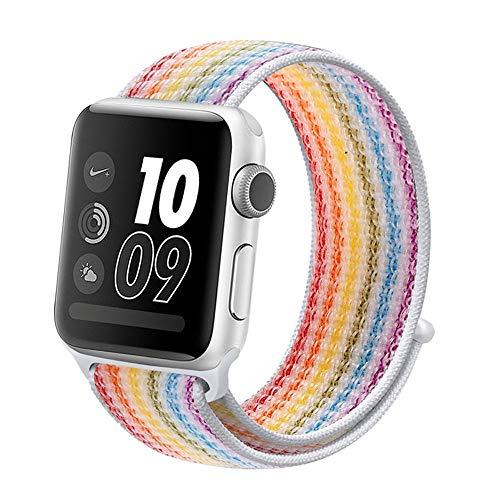 CHICAI Compatible con Apple Venda de Reloj de 38 mm 44 mm 40 mm 42 mm, Sustitución de Color Banda de Nylon for Apple iWatch Serie 5/4/3/2/1
