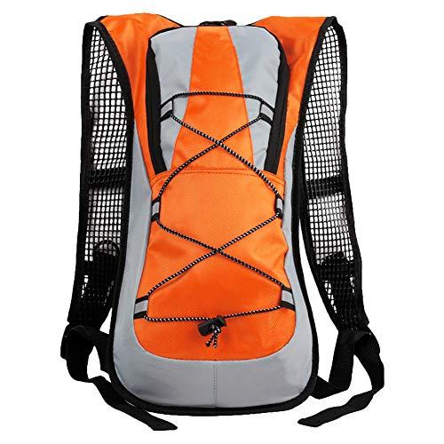 Da.Wa 1 Stück Damen Herren Leichter Kleiner Tagesrucksack für Motorrad Fahrrad Wander Sport Ski Rucksack Orange