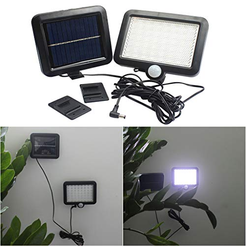 Fineday Solar Power Motion Sensor Light Security Flood Outdoor Garden Path Lamp 56 LED, Led Light for Christmas (Black)