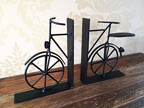 Vintage Fahrrad Bookends Black Metal Bike Buch Divider kurz Shabby-Männer Geschenk