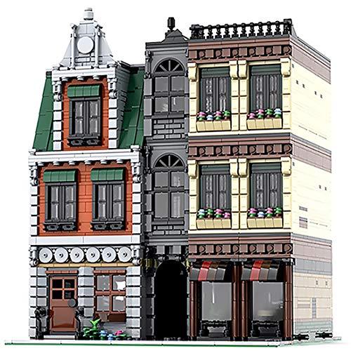 HENG 4166Stk Straßenansicht-Serie Technic Innenstadt Baustein DIY Architekturmodell, Kompatibel mit Lego