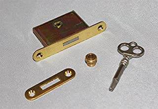 Upright Piano Lock and Key - 4 Piece Kit Brass Vertical Pian