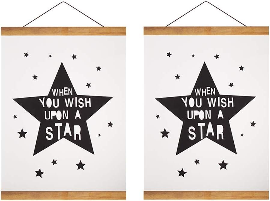 HOMANGA 11 Wide Magnetic Poster Frame Magnetic Wooden Frame Hanger for Photo Canvas Artwork Art Print Wall Hanging Wooden Poster Hanging Kit 11x17 11x14 11x22 Poster Frame Hanger 2 Packs