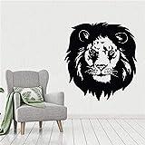 Decoración del hogar Moderno león Salvaje Animal Decal Mural para Sala de Estar Arte Mural caligrafía Papel Tapiz móvil