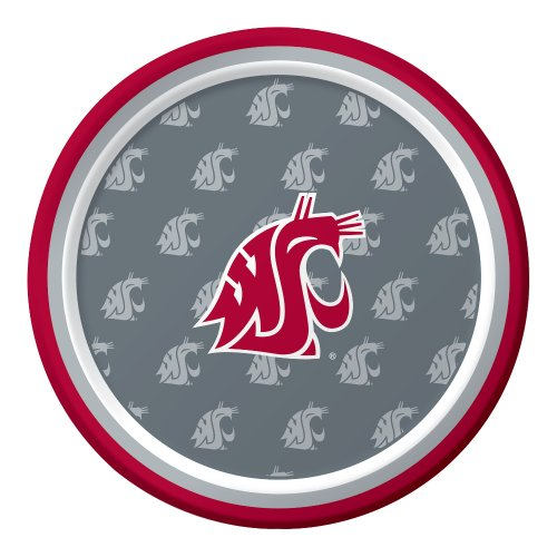 8-Count Paper Dessert Plates, Washington State Cougars