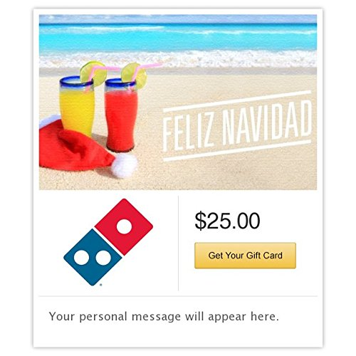 Dominos  Feliz Navidad - Beach Holiday Gift Cards - Email Delivery - http://coolthings.us