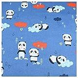 JIWEIER Baumwollstoff mit Panda-Motiv, für Kinder,