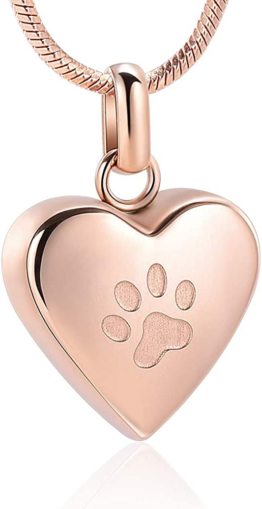 zeqingjw Pet Dedication Cremation Special price for a limited time Jewelry for Print Paw Pendant H Ashes