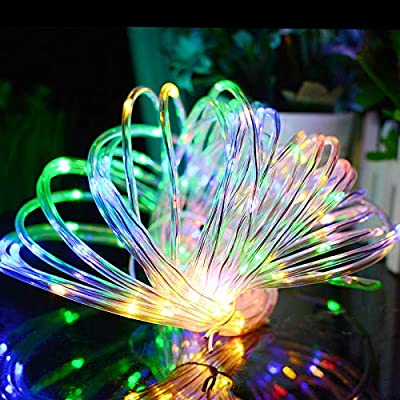 Aluvee 100/150LED Solar String Light,Garden Decoration Outdoor Waterproof Rope Copper Wire String Christmas Lamp Wedding Party Tree Xmas Decoration Tree Xmas
