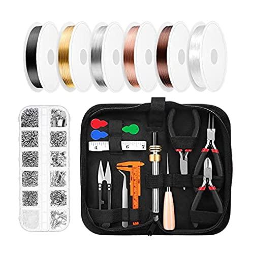 Sharplace Kit de Herramientas para Hacer Joyas, Alicates, Alambres, Reparación de Joyas, Artesanía con Estuche de Almacenamiento