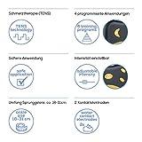 Beurer EM27 Electroestimulador para Tobillo Tens, Negro, Pulsaciones Simétrica s, Bifásica sCuadrada s, 2 Electrodos por Contacto Agua