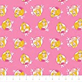 Disney Forever Princess Aurora in Circles in Pink 100% Premium Quality Cotton Fabric by The Yard