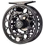 Piscifun Sword Fly Fishing Reel with CNC-machined Aluminum Alloy Body 5\/6 Black