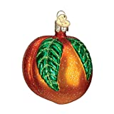 Old World Christmas Ornaments: Fruit Selection Glass Blown Ornaments for Christmas Tree, Peach
