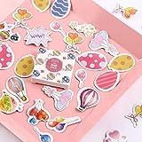BLOUR Kawaii Whale Stickers Niedliche Flamingo-Aufkleber Journal Papieraufkleber für Kinder DIY Scrapbooking Tagebuch Alben40pcs