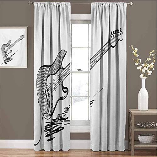 Cortinas opacas de 2 paneles, cortinas decorativas de ventana de aislamiento térmico...