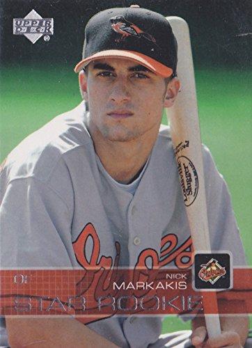 2003 Upper Deck Prospect Premieres - Star Rookie - Nick Markakis Baseball Rookie Card RC #84