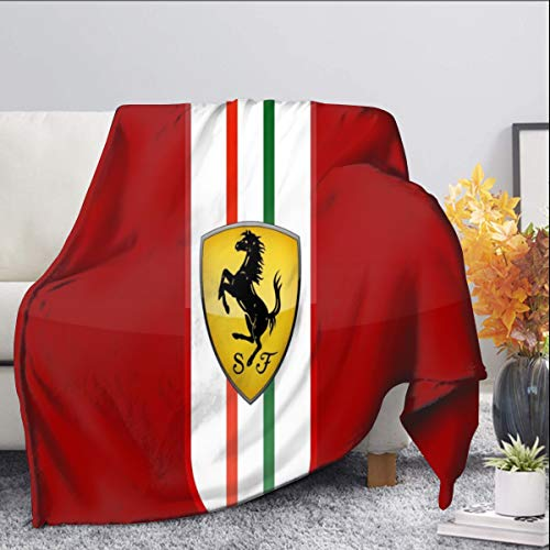 Ferrari Fleecedecke für Kinderbett, Bett, Couch, Stuhl, 127 x 152,4 cm