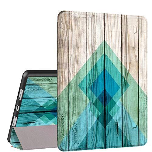 Rossy Funda para iPad 10.2 de 7ª generación 2019, funda de piel sintética de poliuretano termoplástico con función atril y función atril para Apple iPad 7ª generación de 10,16 cm