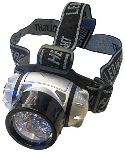 Unicom - Torcia da fronte ultra luminosa, con 7 LED