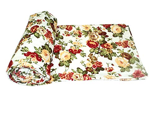 GUNNU G 220 TC Flowers Print Reversible Poly Cotton AC Comfort/Blanket/Quilt (Single Bed, 54x84 Inches, Multicolour)