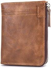 eYotto Men Leather Wallet Bifold Large Capacity Zipper Wallet RFID Blocking Credit Card Holder for Men