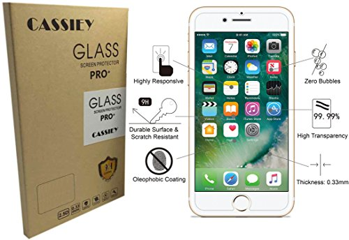 CASSIEY Tempered Glass Screen Protector for Apple iPhone 6G / 6 (Tranparent) Full Screen Coverage (except edges) with Easy Installation Kit