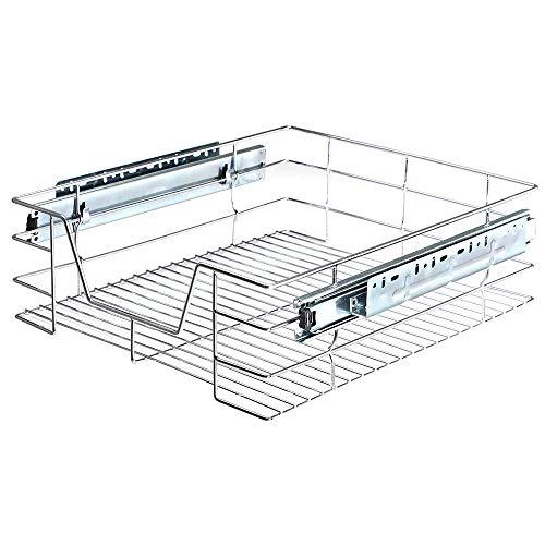 Bakaji - Cajón telescópico para muebles de cocina, cesta extraíble para ahorrar espacio, con riel de acero inoxidable (50 cm)