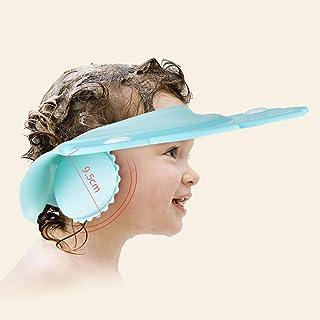 Baby Bath Shower Cap wash Shampoo Visor Bathing tub Head Hair Rinser hat Protection Kids Children Toddler(Blue)