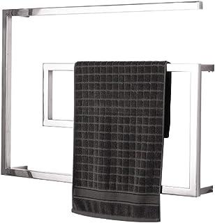 Toallero eléctrico calefactado Estilo Tubo Cuadrado de 60w, Cuerpo Pulido Espejo, Resistente al Agua, Ahorro de energía, Temperatura Constante, radiador montado en la Pared de Acero Inoxidable