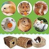Weidentunnel Für Kleintiere, Grashaus, Grasröhre Natürliches Handgemachtes Gewebtes Grasnest Gras Haus Höhle Für Nager Meerschweinchen Kaninchen Hamster, Gras Bett Kaninchenbett Stroh Natürliches Beet