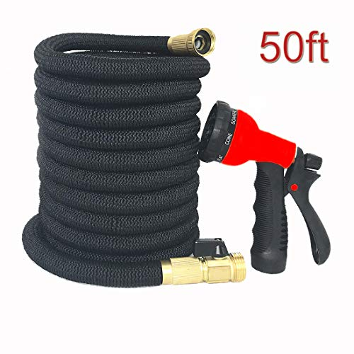 HATEA Hose,Expandable Garden Hose,Pressure Washer Hoses,Strongest Expandable Water Hose,with Double Latex Core,Best Flexible Expanding Hose for Car wash (50)