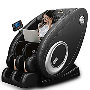 2021 New Massage Chair Blue-Tooth Connection and Speaker, Recliner with Zero Gravity with Full Body Air Pressure, Easy…
