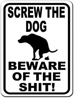 BA IMAGE Beware of the Dog Poop Funny Custom 9x12 Aluminum Metal Sign Choose Your Color