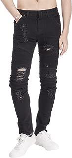 メンズ バイクパンツ ライダースジーンズ ストレートデニム パンツ メンズ ダメージ バイカー ジーンズ オートバイジーンズ スキニー ロング パンツ