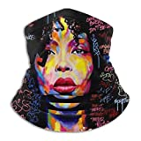 African American Hip Hop Afro Hair Girl Bandana Face Dust Mask For Women Men Half Headband Head Wrap Scarf Balaclava Clothes Dress Cap Clothing Accessories Head Wrap Apparel