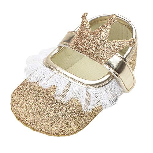 MCYs Baby Mädchen Blume Bling Krone Spitze zufälliger Schuhe Mode Kleinkind Wanderer Schuhe Lauflernschuhe Krabbelschuhe Babyhausschuhe