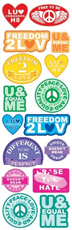 Sticko Decorative Stickers, Love Conquers Labels