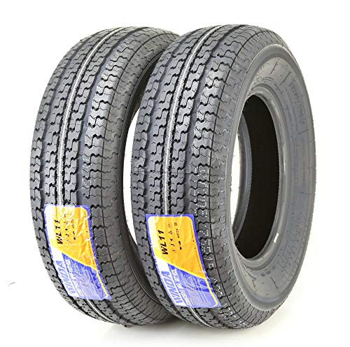 2 New Premium Trailer Tires ST 205 75R15 / 8PR Load Range D Steel Belted