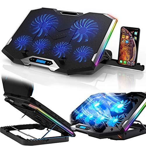 DSMGLRBGZ Soporte Monitor, Laptop Stand Soporte Laptop Elevador Portátil USB Doble Bisel Oculto Antideslizante Seis Núcleos Disipación De Calor Silencio para Postura Saludable Game,B