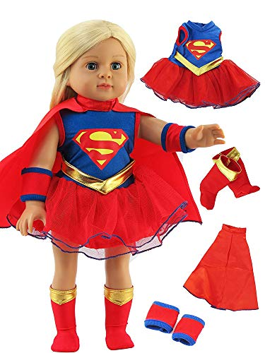 American Fashion World Super Girl Costume Made for 18 inch Dolls Such as American Girl Dolls