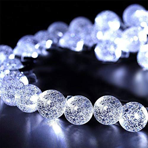 WH Decorativo Catena Luminosa Solare Strisce LED da Esterno - Luminarie Colorate A Globo Impermeabili Fino, 30 LED,White