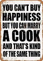 あなたは料理人と結婚することができますブリキのサイン壁の装飾金属ポスターレトロなプラーク警告サインオフィスカフェクラブバーの工芸品