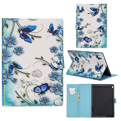 Case for Lenovo Tab4 10/Tab4 10 Plus Ultra Lightweight Slim PU Leather Protective Case with Card Slot and Magnetic Cover for Lenovo Tab4 10/Tab4 10 Plus 10.1 Inch Tablet PC,2#Butterflies